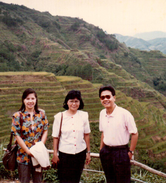 At the Banawe Rice Terraces